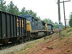 Coal train meets MofW Train