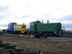 CRGX 9349 & JTPX 62 Idle on a Siding at the Cargill Facility