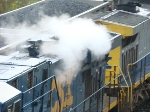 Steam from water on the hot radiator off a CSX geevo @ 59th St on the B&OCT