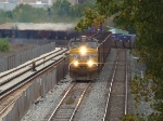 UP 5881 coal train on the B&OCT. Taken off the GT 59th st bridge