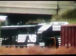 NS 3020 probably goes to Bison yard with 2 boxcars