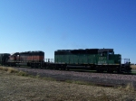 After We Raced Ahead to Get in Front, I Got this Shot of the Quick-moving Grain Train
