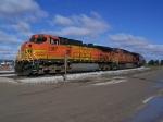 A Grain Train Wraps Around an Ethanol Facility's Siding