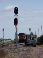 BNSF 5833 Broke Down for Several Hours, Backing Westbound Traffic Up Nearly to Lincoln, 70 Miles Away