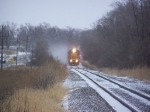 Snow Flies as the M-VALLIN Local Heads South to Lincoln