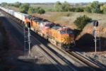 BNSF 5302 - with Dynamic Brakes applied