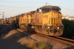 UP 9693 - Using Trackage Rights on the BNSF - Redrock Sub. Div.