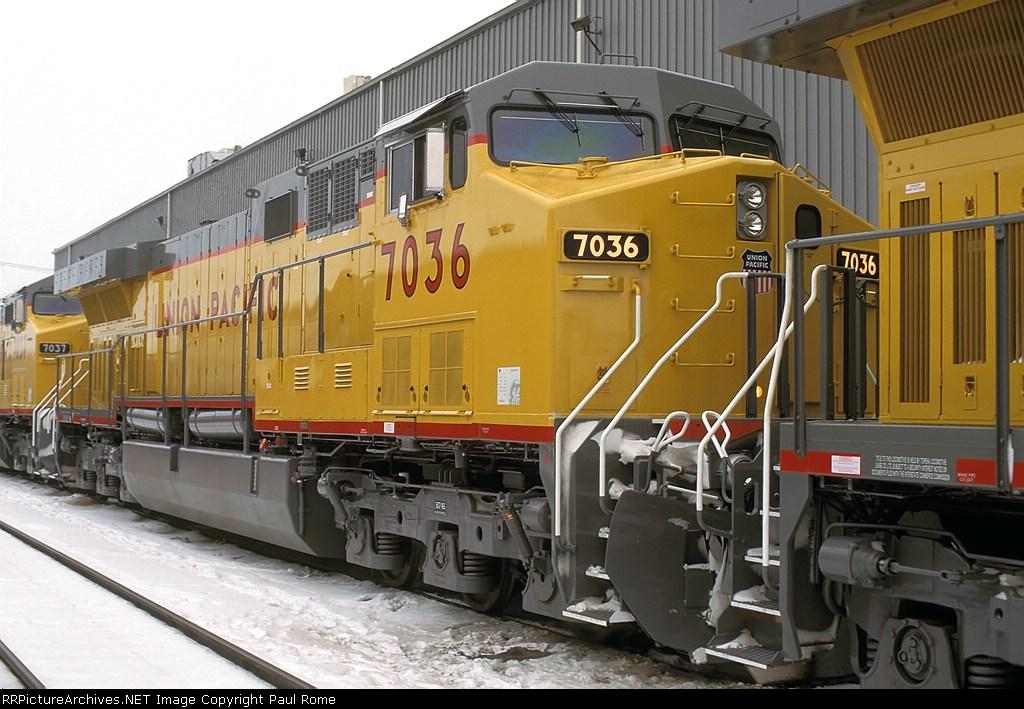 UP 7036, GE AC4460CW Convertible, NEW at Proviso Yard