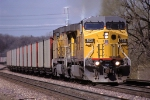 UP 7021, GE AC4460CW Convertible, working eastbound coal loads