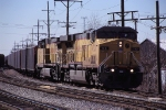 UP 7021, GE AC4460CW Convertible, working eastbound coal loads on the CCP at Hawthorne Yard