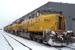 UP 7039, GE AC4460CW convertible, 5-NEW units at Proviso Yard