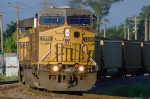 UP 7039 - 7330, GE C4460AC, two convertibles with the eastbound CATAU coal loads