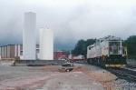 SAN enginehouse under threatening skies