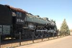 "Great Northern Railway (GN) Baldwin 4-8-4 S2 Class ""Northern"" Steam Locomotive No. 2584 on display"