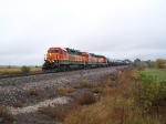 Three GP38 Variations Lead a Train of Mostly Tankers West