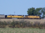 UP 6666 Leading a Coal Train