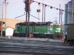 Rare Combo: Two GP39Es Tethered in the BNSF Yard