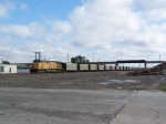 UP 6484 Leads Empties Under the BNSF's Ravenna Sub