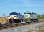 CSX 6080 drops off a crewman so the can couple L&N 796 for the push 10/29/2008