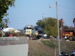 CSX 6080 has pushed L&N 796 across the 6th Street overpass and arrives at the L&N Depot and Historic Railpark 10/29/2008