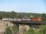 BNSF 6087 Across the Ex/ ATSF bridge