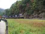 Norfolk Southern 9846 and 2721 round Horseshoe Curve