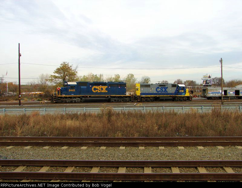 CSX 8445 and 2738