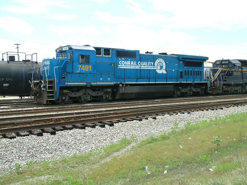 CSX 7491 at the yard