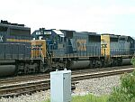CSX 8661 and 8115