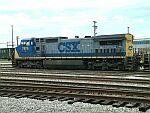 CSX 7876 leads a grain train north