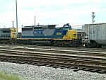 CSX 8144 on this grain train