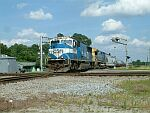 CSX 776 leads this train from Wilmington