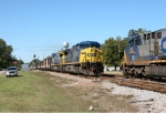 CSX trains U150 & Q542 meet at Ambrose, GA