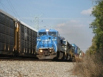 The Conrail Blue Rushes Through