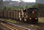 UP 8178 leads an eastbound coal train at the 10th Street overpass