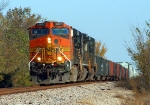 BNSF 5017 headed west