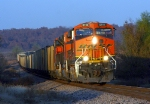 BNSF 6110 headed west to Tulsa with empty coal train,a reroute