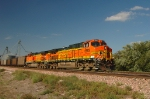 BNSF 5693-5691, both GE AC44CW with an eastbound loaded coal train