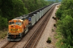 BNSF 8802 works as a remote DPU unit on an eastbound coal train