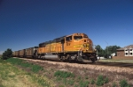 BNSF 8891 leads an eastbound coal load