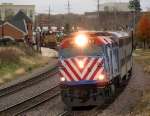Westbound Metra Commuter Train #503 Passes an Eastbound UP Manifest DPU