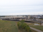 Wide Shot of the Locomotive Shops and Refueling Station at Bailey Yard