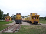 UP Display Train, Centennial Locomotive and ex-Hershey Depot at Cody Park