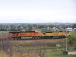 UP 8042 & a BNSF Helper Take Empties Back to Wyoming