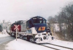 GEXR 4001 and 3821 pull away from Snug Harbour