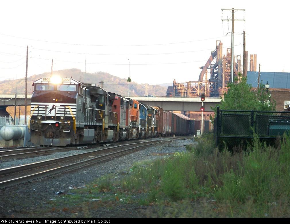 7 Locomotives head towards the Allentown Yard
