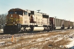 Northbound coal train passes University