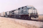 NS C40-9W's head to Fort Wayne with autoracks.