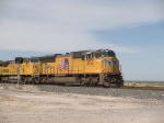UP 4760 leads an EB doublestack at 12:10pm