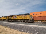 UP 5353 leads an EB doublestack at 12:29pm